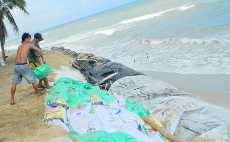 Pháp hỗ trợ hơn 7 tỉ đồng khắc phục sạt lở bờ biển Cửa Đại - ảnh 1