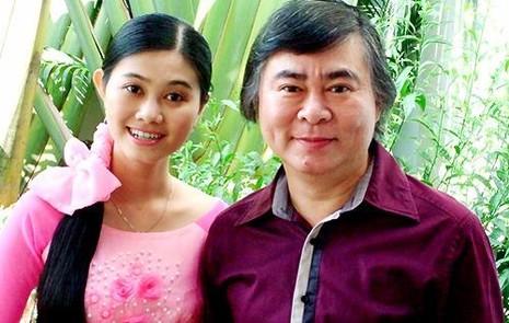 NSND Thanh Tòng bên con gái NSƯT Quế Trân.