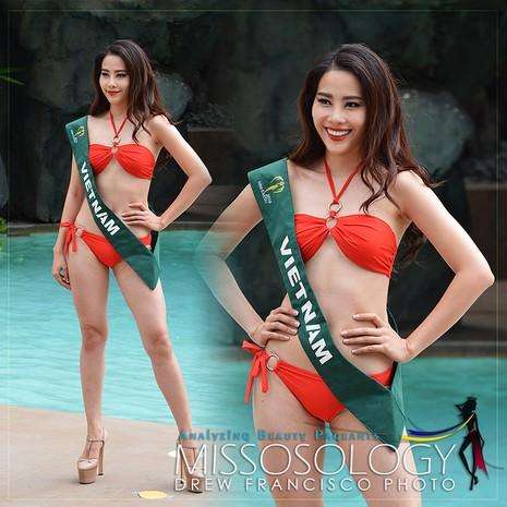 Đại diện của Việt Nam - Nam Em nằm thứ 8 trong bảng xếp hạng những gương mặt sáng giá nhất cuộc thi Hoa hậu Trái đất 2016 của Missosology.