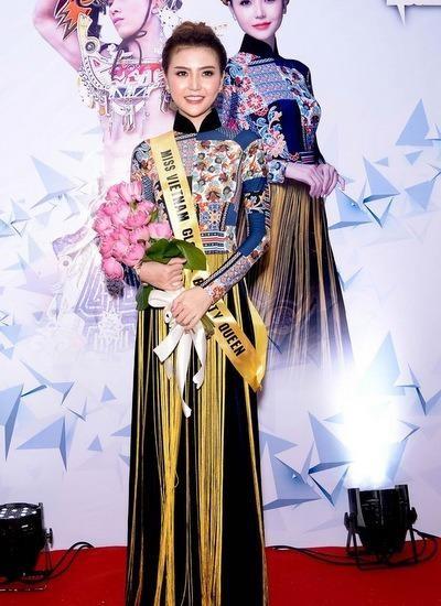 Ngày 3-10, Ngọc Duyên, đại diện Việt Nam đi thi Miss Global Beauty Queen (Nữ hoàng Sắc đẹp Toàn cầu) 2016 tại Hàn Quốc. Ảnh NGÔI SAO