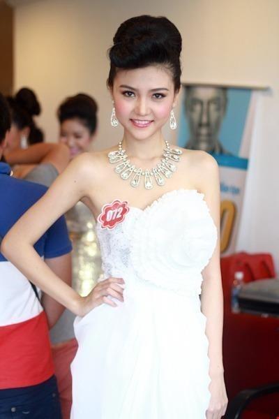 Cũng năm 2012, cô dự thi Hoa hậu Việt Nam. Ảnh DÂN TRÍ