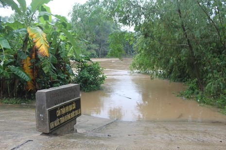 Quảng Ngãi: Đề phòng mưa lũ dâng cao trở lại trong đêm - ảnh 1