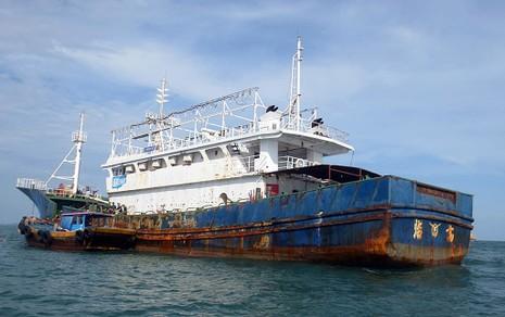Làm rõ con tàu Trung Quốc bí ẩn trôi trên biển - ảnh 9