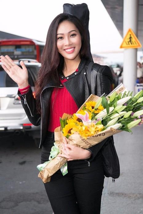 Người đẹp sinh năm 1990 đến từ Đà Nẵng tự tin sau hơn năm tháng chuẩn bị cho cuộc thi nhan sắc lớn nhất thế giới - Hoa hậu Thế giới (Miss World) 2016. Ảnh: Zing