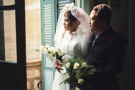 Cặp đôi chụp ảnh tái hiện 100 năm lễ cưới Việt Nam  - ảnh 13