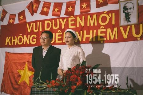 Cặp đôi chụp ảnh tái hiện 100 năm lễ cưới Việt Nam  - ảnh 6
