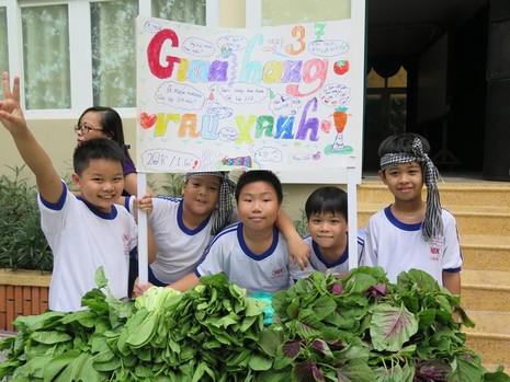 Độc đáo: Nhộn nhịp hội chợ rau sạch của học sinh tiểu học - ảnh 13