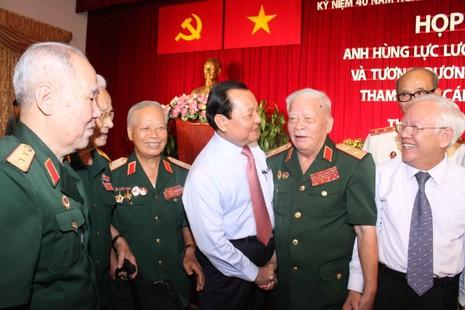 Họp mặt nhân chứng lịch sử tham gia 5 cánh quân trong chiến dịch Hồ Chí Minh   - ảnh 1