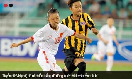 Tuyển nữ VN thắng đậm Malaysia 7-0 - ảnh 1