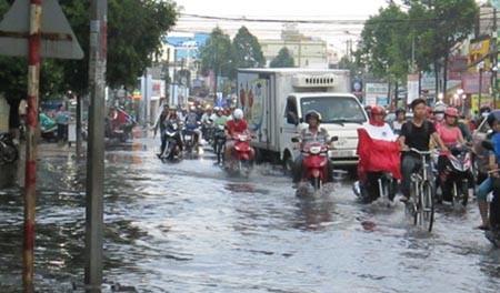 Mưa lớn, nhiều tuyến phố ở Cần Thơ ngập nặng - ảnh 10