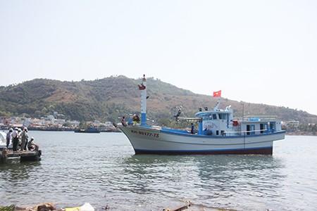Chạy thử tàu cá đầu tiên đóng từ vốn vay theo Nghị định 67 - ảnh 2