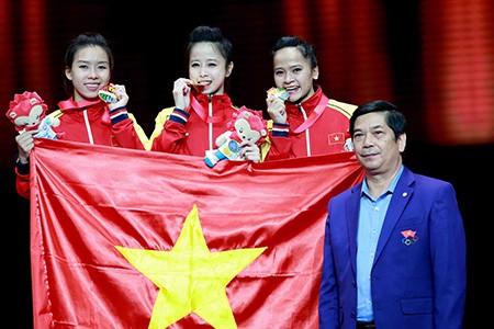 Chùm ảnh bộ 3 hotgirl Việt Nam giành HCV Taekwondo - ảnh 9
