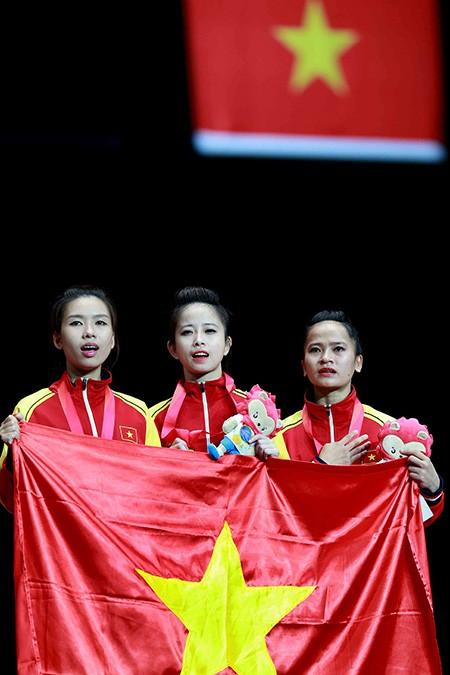 Chùm ảnh bộ 3 hotgirl Việt Nam giành HCV Taekwondo - ảnh 10