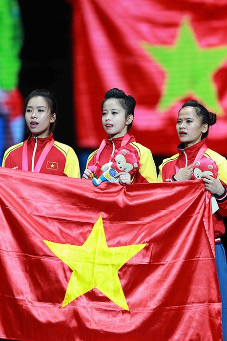 Chùm ảnh bộ 3 hotgirl Việt Nam giành HCV Taekwondo - ảnh 11
