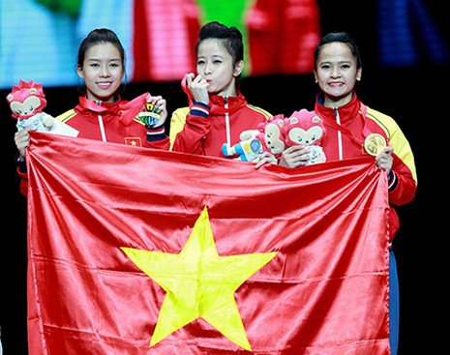 Chùm ảnh bộ 3 hotgirl Việt Nam giành HCV Taekwondo - ảnh 12