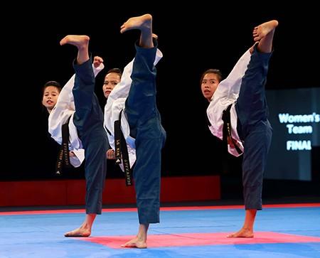 Chùm ảnh bộ 3 hotgirl Việt Nam giành HCV Taekwondo - ảnh 1