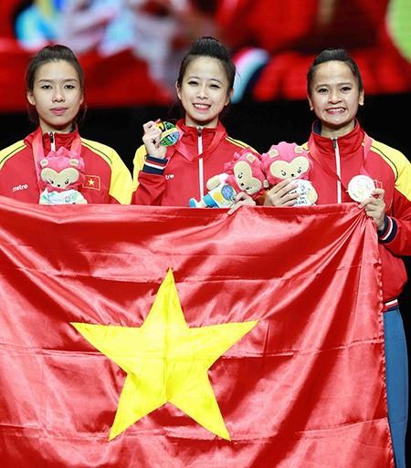 Chùm ảnh bộ 3 hotgirl Việt Nam giành HCV Taekwondo - ảnh 17