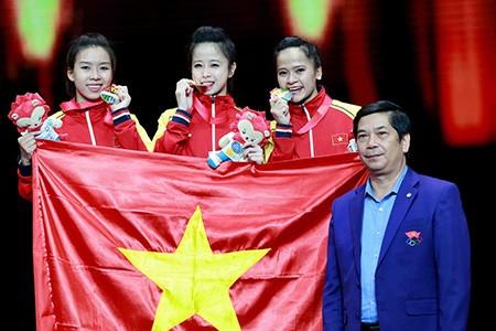 Chùm ảnh bộ 3 hotgirl Việt Nam giành HCV Taekwondo - ảnh 18