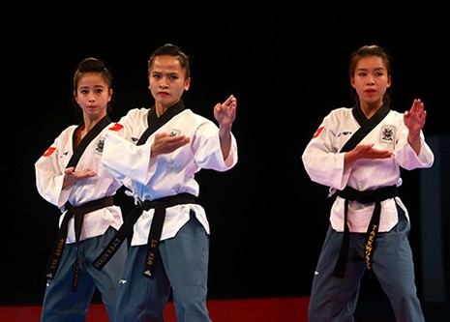 Chùm ảnh bộ 3 hotgirl Việt Nam giành HCV Taekwondo - ảnh 3