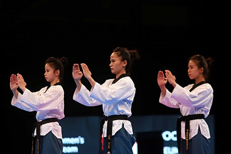 Chùm ảnh bộ 3 hotgirl Việt Nam giành HCV Taekwondo - ảnh 4