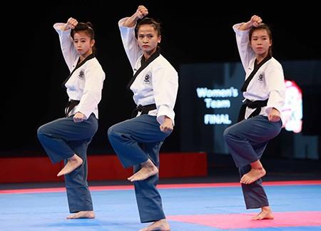 Chùm ảnh bộ 3 hotgirl Việt Nam giành HCV Taekwondo - ảnh 6