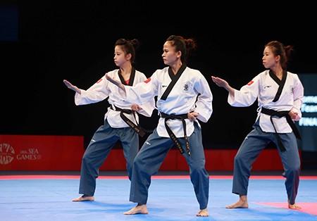 Chùm ảnh bộ 3 hotgirl Việt Nam giành HCV Taekwondo - ảnh 7