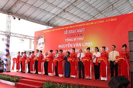 Khai mạc triển lãm hình ảnh về Cố Tổng bí thư  Nguyễn Văn Linh - ảnh 1