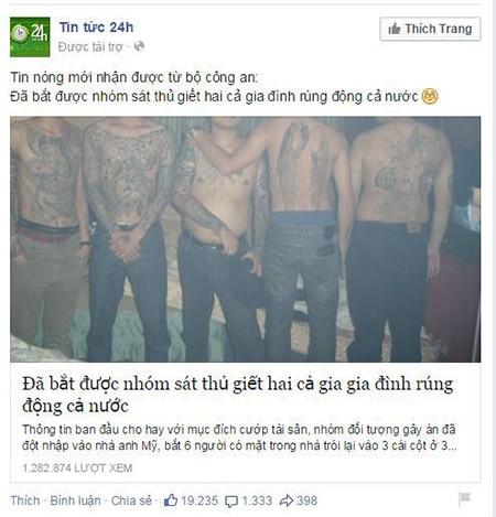 Xuất hiện tin tức giả 'bắt được hung thủ vụ thảm sát Bình Phước' - ảnh 2