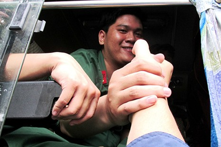 TP.HCM: Hơn 1.200 thanh niên tình nguyện nhập ngũ  - ảnh 8