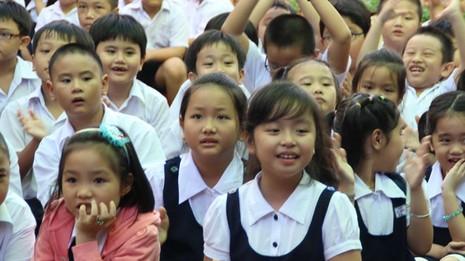 Học sinh TP.HCM trong ngày khai giảng năm học mới - Ảnh tư liệu TT