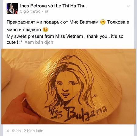 Hà Thu tặng nón lá tại Hoa hậu Liên lục địa - ảnh 4