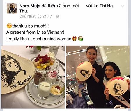 Hà Thu tặng nón lá tại Hoa hậu Liên lục địa - ảnh 6