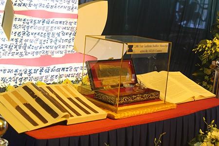 Mãn nhãn với bản kinh Phật trên lá bối 2.000 năm tuổi - ảnh 3