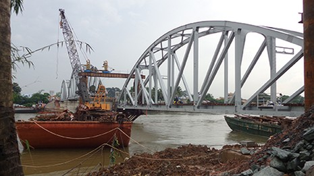 Chùm ảnh: Cầu Ghềnh mới trước ngày thông tàu - ảnh 3