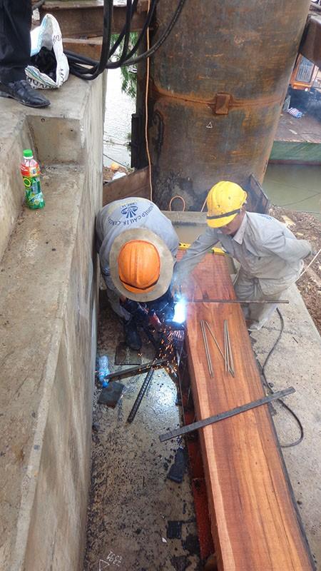 Chùm ảnh: Cầu Ghềnh mới trước ngày thông tàu - ảnh 5