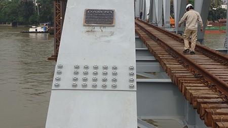 Chùm ảnh: Cầu Ghềnh mới trước ngày thông tàu - ảnh 8