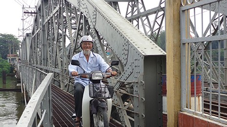 Chùm ảnh: Cầu Ghềnh mới trước ngày thông tàu - ảnh 9