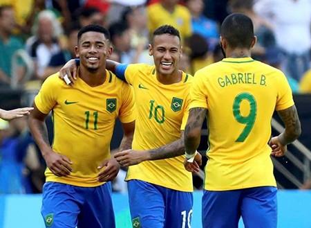 'Chơi tennis' trước Honduras, Brazil hẹn Đức ở chung kết Olympic - ảnh 2