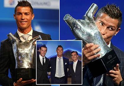 Ronaldo xuất sắc nhất châu Âu, Messi ghi bàn đẹp nhất năm - ảnh 1
