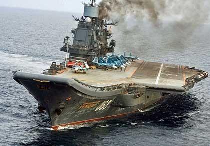 Lần đầu tiên Nga điều tàu sân bay đến Syria - ảnh 1