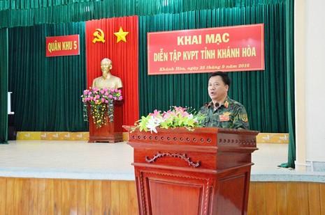 Khai mạc diễn tập khu vực phòng thủ tỉnh Khánh Hòa - ảnh 1