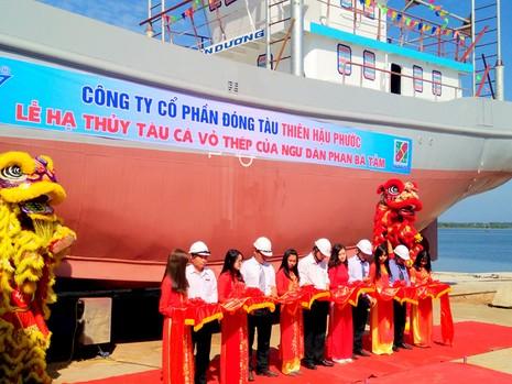 Quảng Nam: Hạ thủy tàu vỏ thép hơn 18 tỉ đồng - ảnh 1