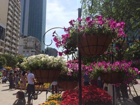 Ngắm đường hoa Nguyễn Huệ khoe sắc sáng 30 tết - ảnh 11