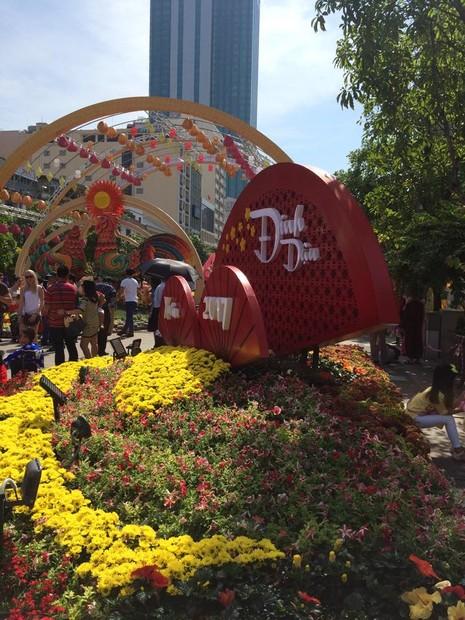 Ngắm đường hoa Nguyễn Huệ khoe sắc sáng 30 tết - ảnh 14