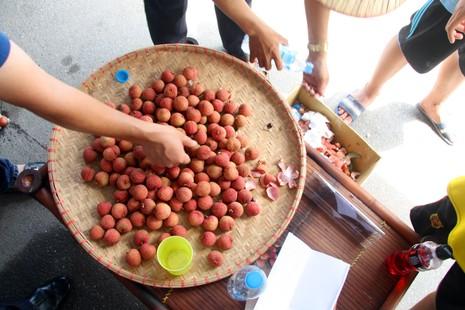 Người dân thủ đô chen nhau nếm thử vải thiều Bắc Giang - ảnh 3