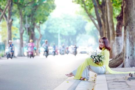 Thiếu nữ Hà thành 'đọ sắc' cùng hoa cúc họa mi - ảnh 13