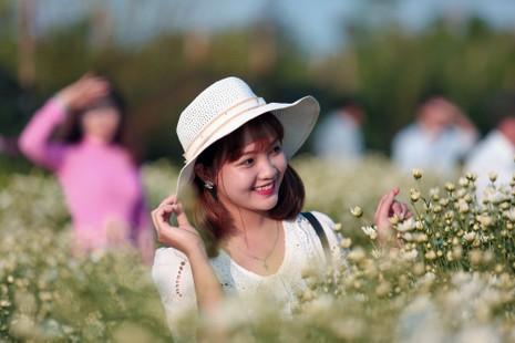 Thiếu nữ Hà thành 'đọ sắc' cùng hoa cúc họa mi - ảnh 8