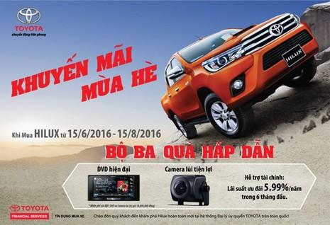 Chương trình khuyến mãi mùa hè 2016 của Toyota Việt Nam - ảnh 1