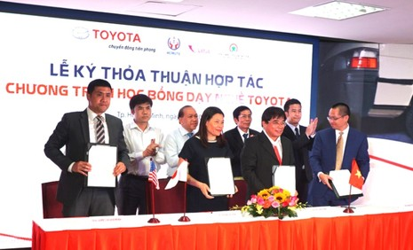 Toyota: 25 suất học bổng dạy nghề sửa chữa ô tô - ảnh 1