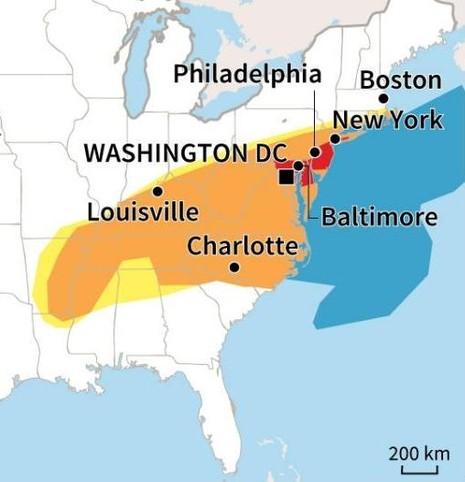 Siêu bão tuyết 'đổ bộ' Mỹ: Hơn 7.600 chuyến bay bị hủy - ảnh 2